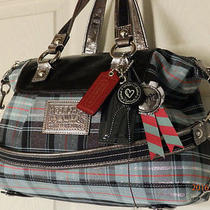 Cleaned Coach 15884 Poppy Graffiti Luxey Satchel Tote Holiday Winter Summer Sale Photo