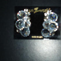 Clear Crystal Swarovski Clip Earrings Dance Drag Wedding Prom Photo