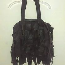 Cleobella Black Fringe Bohemian Bag Tote Purse Photo