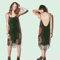 Cleobella Edie Radial Fringe Dress M Boho Coechella  Photo