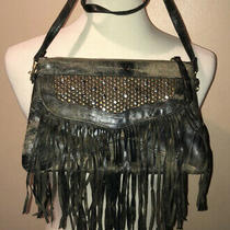 Cleobella Leather Grey Crossbody/clutch Zula Boho Fringe Bag/purse Photo