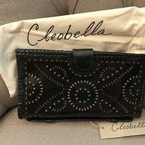 Cleobella Mexicana Clutch in Black Patent Nwt Tooled Leather Photo