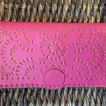 Cleobella Mexicana Painted Wallet in Fuchsia  Photo