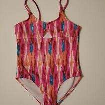 Cleobella Turquoise Brand Girls Pink Coral Teal One Piece Swimsuit Small Euc Photo