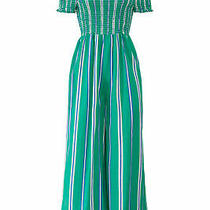 Cleobella Women's Jumpsuit Blue Green Size Small S Smocked Striped 188- 943 Photo