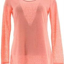 Clinton Kelly Double Layer Top Baby Chain Long Slv Blush Pink Xl  A266480 Photo