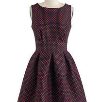 Closet Topshop Flare Vintage Inspired Polka Dot Dress Uk10 Photo