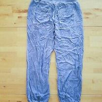 Cloth and Stone Anthropologie Pants Sz Small Blue Elastic Waste Drawstring Photo