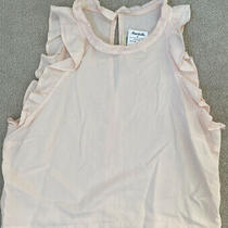 Cloth & Stone /anthropologie Women's Blush Ruffle Tank Top Pink Size L Nwt Photo