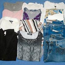 Clothing Lot 14 Pc Women's Spring Summer Top Pant Michael Kors Express Sz S 003 Photo