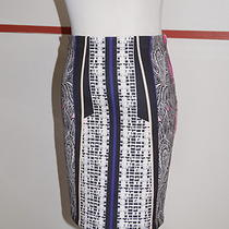 Clover Canyon Black Paisley Neoprene a-Line Skirt Sz M Retail 223 Nwt B.977 Photo