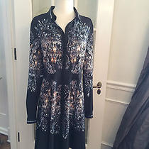 Clover Canyon Chandelier Print Shirt Dress Size L Photo