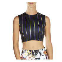 Clover Canyon Crop Top M Neoprene Striped Photo