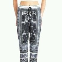 Clover Canyon Etched Marble Black Drawstring Pants S Nwt Photo