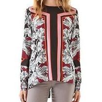 Clover Canyon Geometric Floral Drawing Top Xs Photo