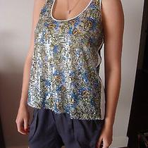 Clover Canyon Medium Embellished Tropical Tank Top Blouse Made in the Usa Photo