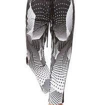 Clover Canyon Printed Drawstring Pants in Torqued Walls Size S  Photo