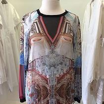 Clover Canyon  Silk Abstract Sweatshirt  Size S Photo