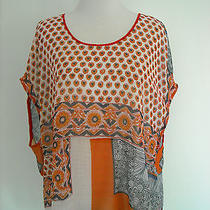 Clover Canyon Silk Printed Smocked Blouse S Photo
