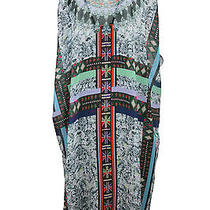 Clover Canyon Womens Multi-Colored African Diamond Draped Dress S 260 New Photo