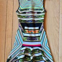Clover Canyon Womens Sz Xs Multicolor Sleeveless Abstract Stripes Cocktail Dress Photo