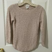 Club Monaco Beige Blush Italian Yarn Cotton Fitted Sweater Sz Small Photo