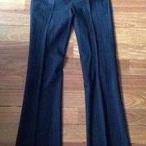 Club Monaco Black Work Dress Pants Skinny Beige Stripes 0 Xs Bootcut Photo