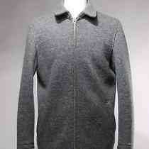 Club Monaco Gray Wool Blend Zip-Front Sweater Jacket Size Xs Photo