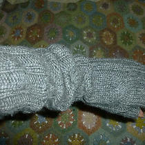 Club Monaco Grey 100% Cashmere Cable Stitch Fingerless Elbow Gloves One Size Photo