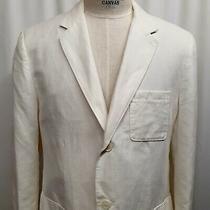 Club Monaco Linen Cotton Xl Two Button White Blazer Jacket Sport Coat Xl (44r) Photo