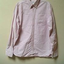Club Monaco Men's Classic Fit Pink Button Front Striped Shirt Size M Photo