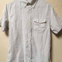Club Monaco Short Sleeve Men's Slim Brown/beige Button Down Shirt Size S Photo