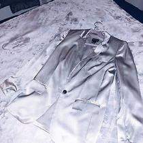 Club Monaco Silk Blazer Fashion Summer Silver Jacket Photo