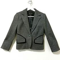 Club Monaco Women Gray Blazer Pleated Back Jacket Blazer Size 4  Photo
