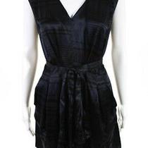 Club Monaco Womens Sleeveless Stripe v-Neck Mini Jumpsuit Romper Black Size 0 Photo