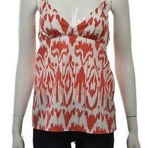 Club Monaco Womens Top Size S Coral Halter Cotton Casual Sleeveless Shirt Photo