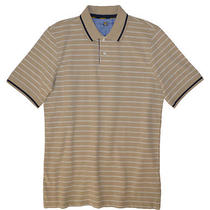 Club Room Men's Hudson Tan Mesh Polo Shirt Small Photo