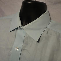 Club Room Mens Aqua Blue Dress Shirt 17 34/35  Photo