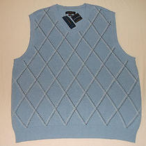 Club Room - Relaxed Fit Sweater Vest Blue New Size 2xl  100% Cotton Photo