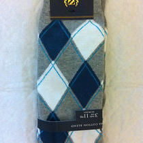 Club Room Socks Pima Cotton Blendlight Grey Heather Argyle Patternnwt Photo