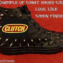 Clutch Metal Punk Rock Custom Studded Converse Chuck Shirt Sneakers Shoes Spikes Photo