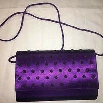 Clutch Purse Shoulder Bag Jessica Mcclintock Purple 6x9 Photo