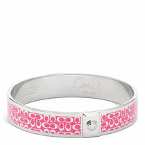 Coach 1/2 in Signature Bangle Style F96855 Sv/watermelon Photo