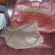 Coach ( 10554) Leather Hobo Shoulder Bag Vintage Cognac With Cover Dust Bag  Photo