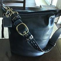 Coach 11423 Black Leather Hobo/bucket Xl Duffle/shoulder Bag Photo