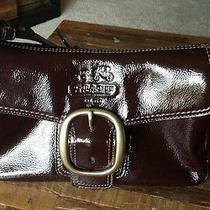 Coach 12372 Bleeker Patent Leather Flap Mahogany Photo