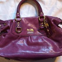 Coach 12937 Small Sabrina Madison Berry Purple 12937 Leather Handbag Purse Photo