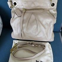 Coach 13411 Large Lt Sand Leather Parker Hippie Shoulder Tote Bag Handbag Purse Photo