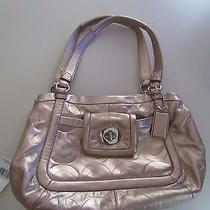 Coach 13607 Metallic Rose Gold Sachel Purse Photo