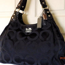 Coach 14305 Maggie Op Art Sateen Hobo Bag Holiday Winter Summer Sale Clean  Photo
